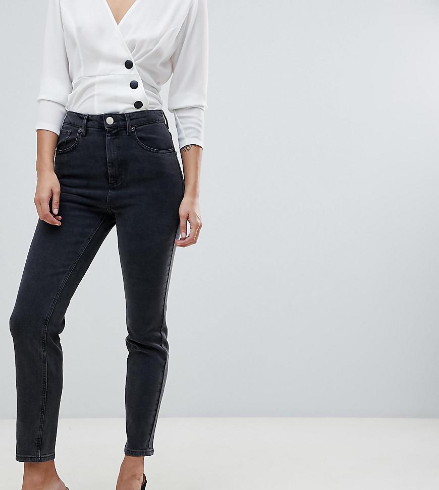 698d0d6d006 Черные выбеленные джинсы слим в винтажном стиле с завышенной талией ASOS  DESIGN Farleigh - Черный. 1