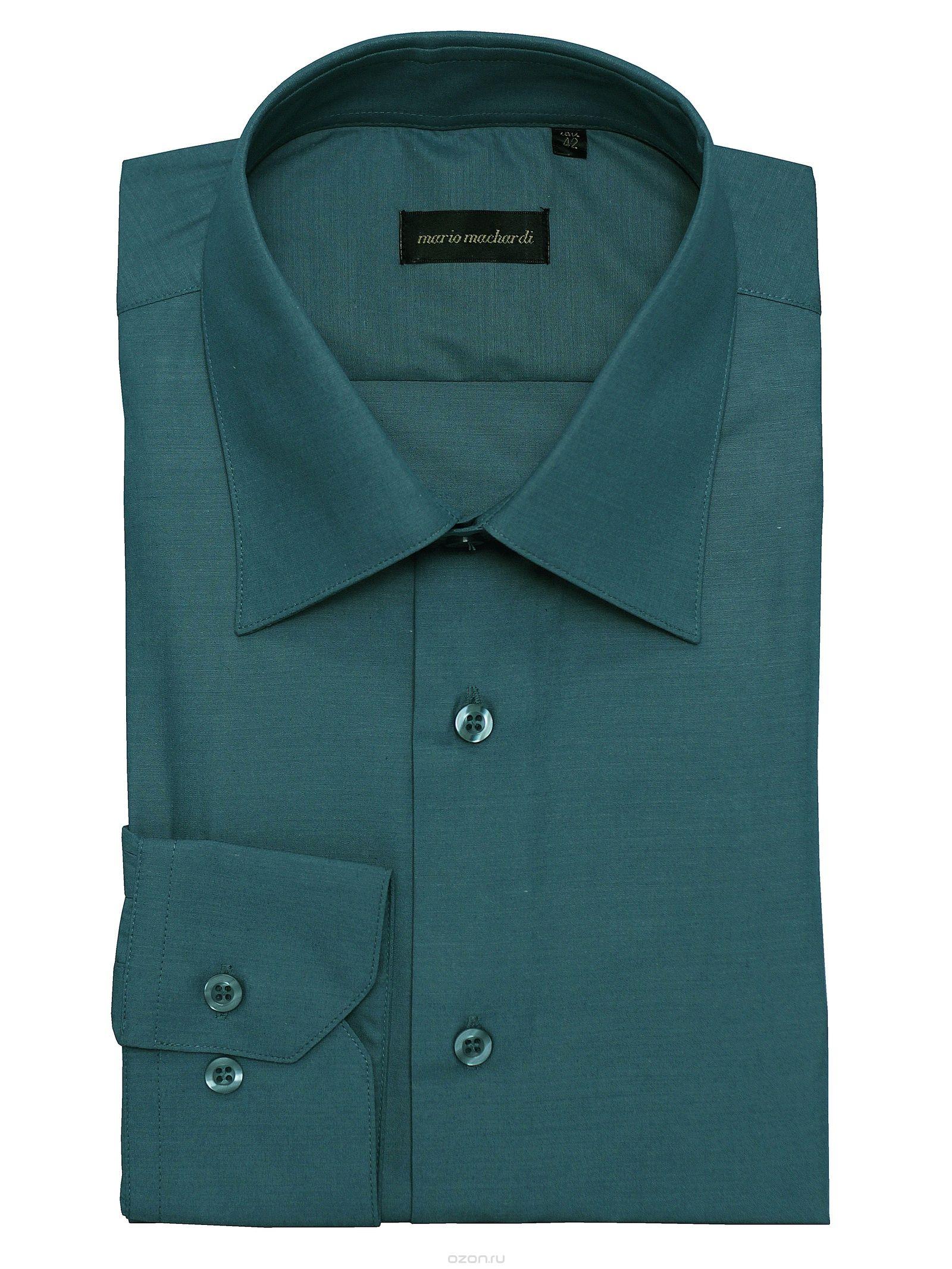 4a503066a98 Рубашка Mario Machardi CLMD57 42 серо-зеленый