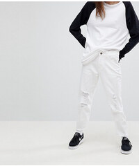 ecac79311c2 Джинсы в винтажном стиле с дырками на коленях Noisy May - Белый