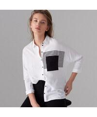 331a02e12ac Mohito - Рубашка с декоративным карманом - Белый