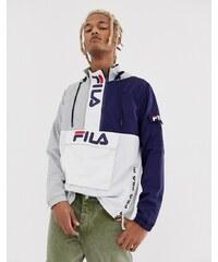 0c7729a6 Серая куртка в стиле колор блок с фирменными молниями Fila Parallax - Серый
