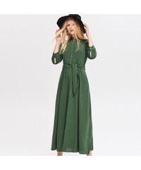 92f4c608e5b Reserved - Платье макси из смеси льна и вискозы - Хаки