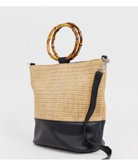 eda6c3f5eead Светло-бежевая сумка-мешок с ручками под бамбук New Look - Светло-бежевый