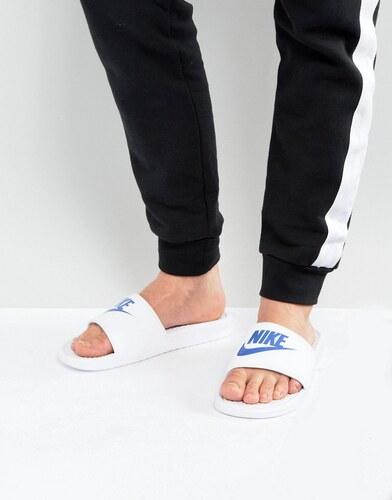 2729edc1b Белые шлепанцы Nike Benassi jdi 343880-102 - Белый - Glami.ru