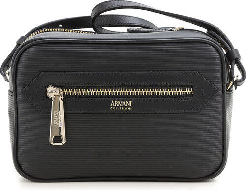334279464321 Giorgio Armani Женская сумка через плечо В продаже со скидкой, Черный,  Кожа, 2019