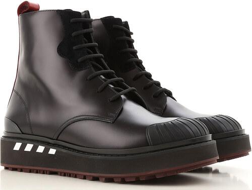 4c4998a3b744 Valentino Garavani Мужские сапоги, ботинки В продаже со скидкой, Черный,  Кожа, 2019