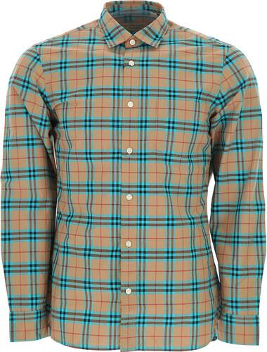 989183d92349 -32% Burberry Мужская рубашка В продаже со скидкой, Бежевый, Хлопок, 2019,  XL -