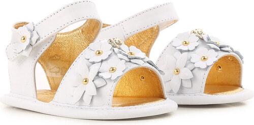 ec5b2aac8 Versace Обувь для новорожденных девочек В продаже в аутлете, Белый, Кожа,  2019,