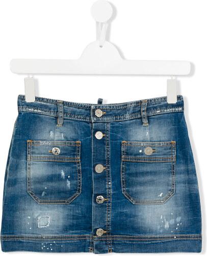 ba57aab8c522 Dsquared2 Kids джинсовая юбка с потертой отделкой - Glami.ru