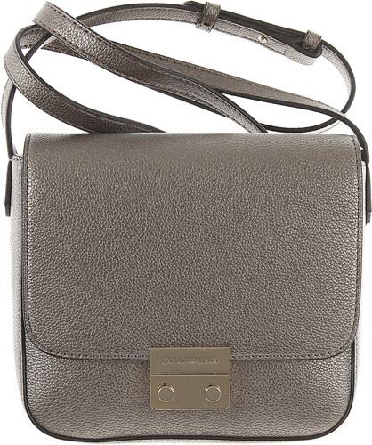 c7c847458ab1 Emporio Armani Женская сумка через плечо В продаже со скидкой, стальной,  Кожа, 2019