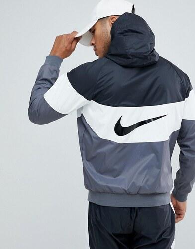 8c89a251 Черная ветровка с принтом на спине Nike AJ1396-010 - Черный - Glami.ru