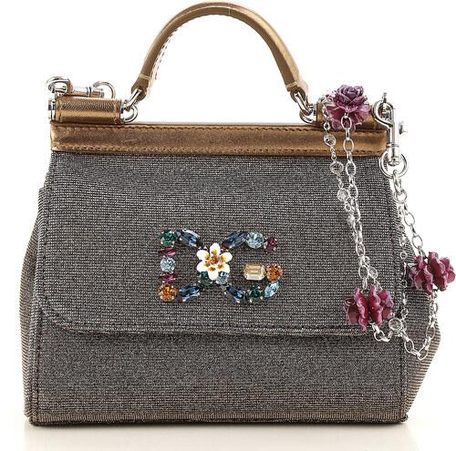 487f593ce416 Dolce & Gabbana Сумка с ручками В продаже со скидкой, Золотой, Кожа, ...