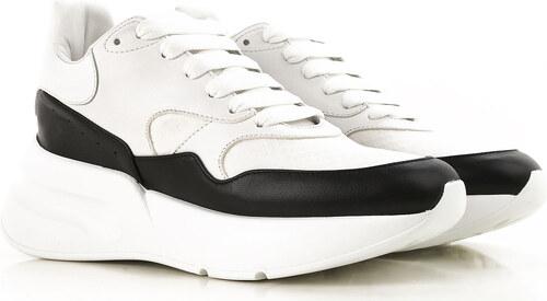 00433027 Alexander McQueen Женские кроссовки В продаже со скидкой, Белый, Кожа,  2019, 10