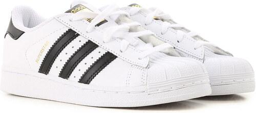 8df74950 Adidas Детская обувь для мальчиков В продаже со скидкой, Белый, Кожа, 2019,