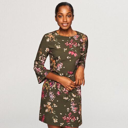 ef6c71906f856a1 Reserved - Платье с цветочным принтом - Коричневый - Glami.ru