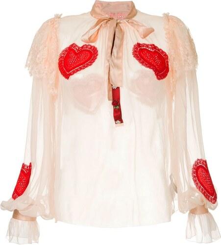 5470df2e309 Dolce   Gabbana блузка с вышивкой сердец - Glami.ru