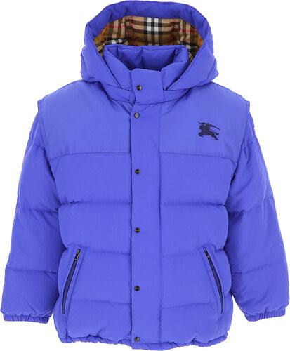 -32% Burberry Детский пуховик для мальчика, Лыжная куртка В продаже со  скидкой, Королевский син, 44bc32107d2