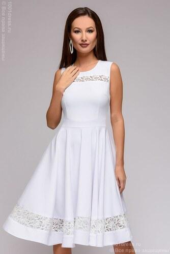 518fed560ad 1001DRESS Платье белое без рукавов с кружевными вставками - Glami.ru