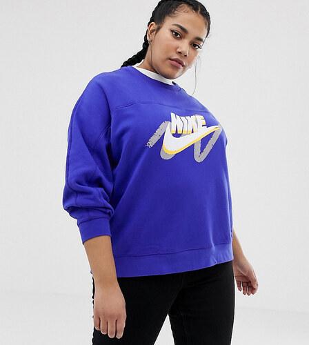 0790b7ff Свитшот с логотипом Nike Plus - Синий - Glami.ru