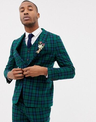 cbffdb4d1b4d Приталенный пиджак в клетку тартан ASOS DESIGN Wedding - Зеленый ...