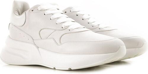 a8fa9f814 Alexander McQueen Мужские кроссовки В продаже со скидкой, Белый, Кожа,  2019, EUR