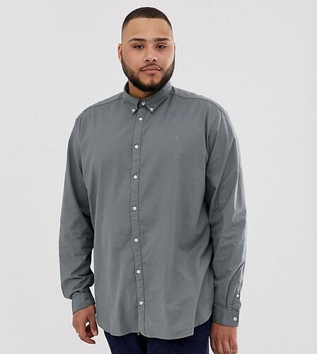783a9863e84 Рубашка большого размера из эластичного хлопка Jack   Jones Premium -  Зеленый