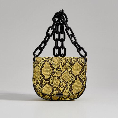 474c5f2acdbe -35% Mohito - Сумка-седло со змеиным принтом Gold Label - Многоцветн