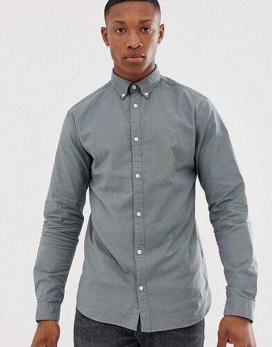 dbba6e0aa8e Светло-зеленая облегающая эластичная оксфордская рубашка Jack   Jones  Premium - Зеленый