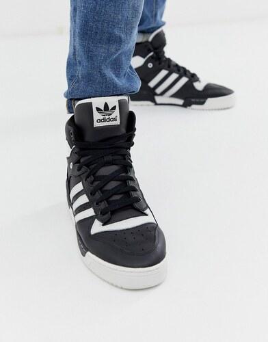 082727f9 Черные высокие кроссовки adidas Originals Rivalry - Белый - Glami.ru