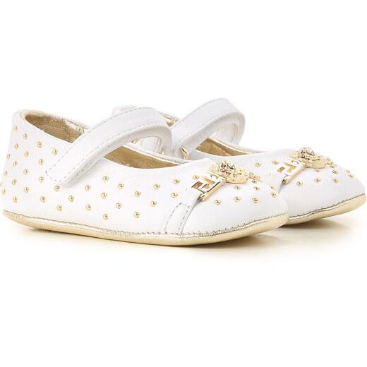 187c2bb3d Versace Обувь для новорожденных девочек В продаже со скидкой, Белый, Кожа,  2019, 16 17 18 19 - Glami.ru