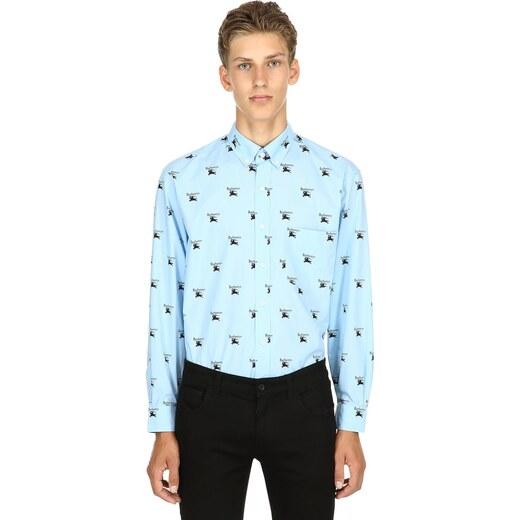 a9f2abf622a BURBERRY Рубашка Из Хлопкового Поплин С Принтом Логотипа - Glami.ru
